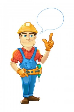 Cartoon construction worker vector material 07
