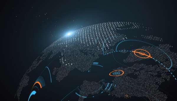 Globalization technology concept vectors background 06