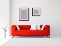 living room interior design vector 03