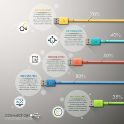 Creative connection infographic vector template 01