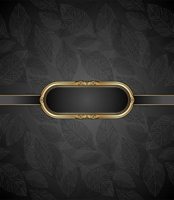 Golden frame with luxury dark background vector 07