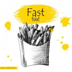 Fast food illustration hand drawing vectors 08
