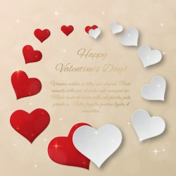 Heart frame valentine day cards vectors template