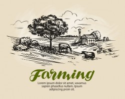Farming hand drawing background vectors 03