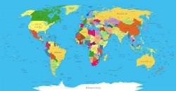 Political World Map vector template