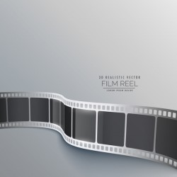 Film reel 3D realistic vector background 05