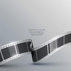 Film reel 3D realistic vector background 09