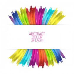 White background and abstract color splash vector material 18