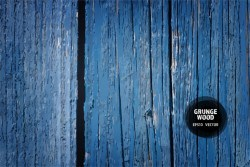 Blue wood grunge texture background vector