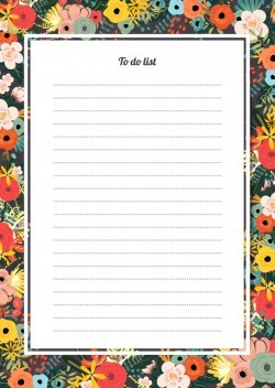 Blank paper with flower background vector 06