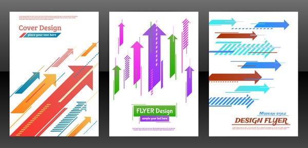 Arrow concept flyer and brochure cover vector 04