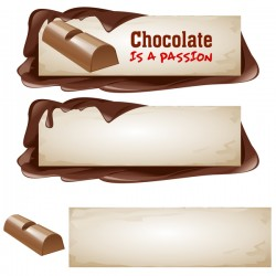 Vector chocolate banner material 06