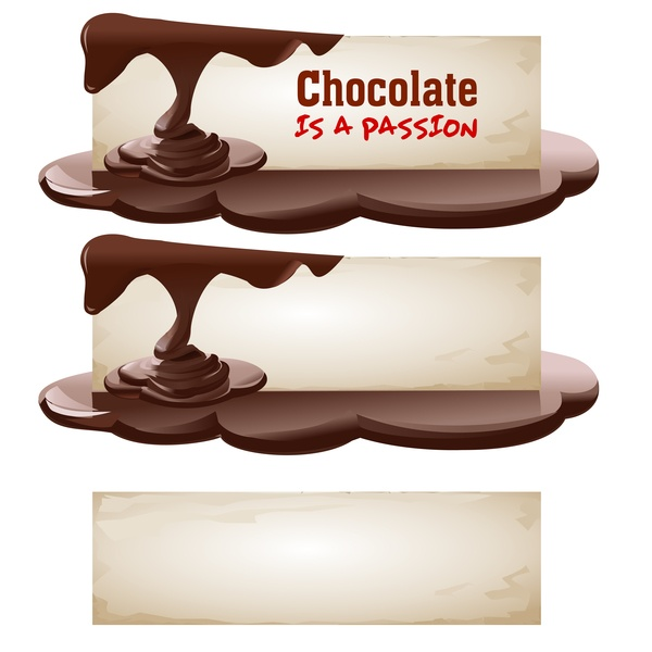 Vector chocolate banner material 09