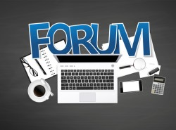 Forum with e-commerce template vector 02