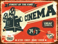 Retro cinema poster vector material 01