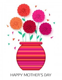Flower with mother day background vectors 02