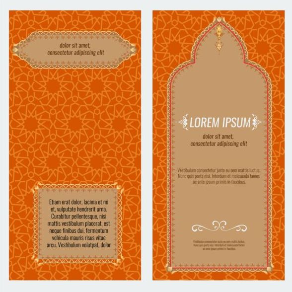 Islamic style brochure and flyer cover template vector 04