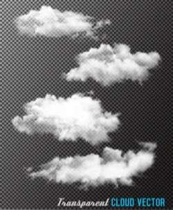 Transparent cloud vectors material set 01