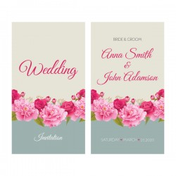 Flower wedding invitation card retro vector 03