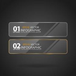 Glossy glass infographic vector template set 01