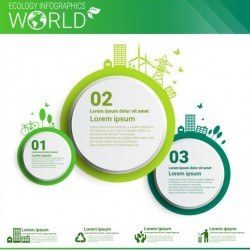Ecology world infographics design vector 14