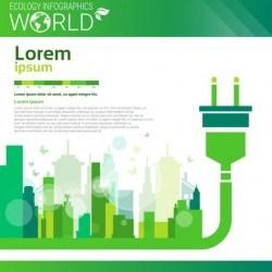 Ecology world infographics design vector 18
