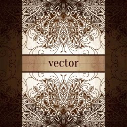 Ornament ethnic pattern with retro background 01