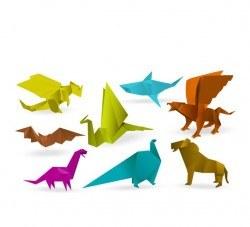 Orgami wild animal vector design 02