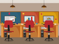 Office flat styles background vector 01