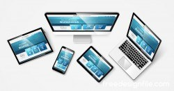 Tablet display with web design vector material 10
