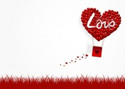 Happy Valentines Day Greeting card with origami vector 07