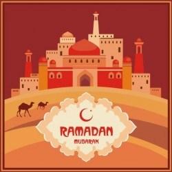Ramadan mubarak background design vector 03