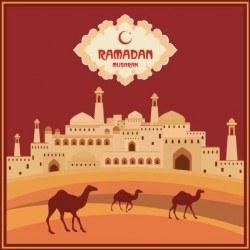 Ramadan mubarak background design vector 04