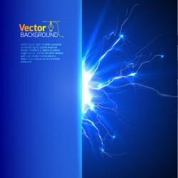 Realistic lightning background design vector 06
