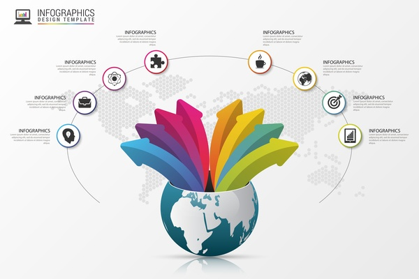 Vector creative world infographic template 05