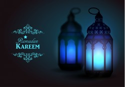 Creative ramadan jareem dark color background vector 14