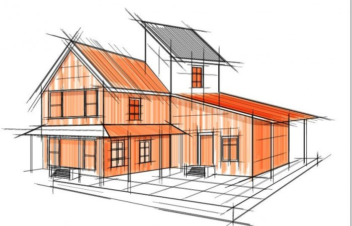 building draft blueprint sketch vector material 10