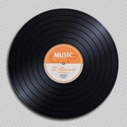 Vinyl record music vector material design
