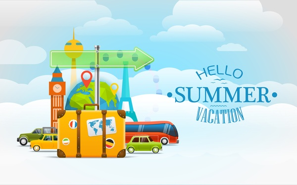 Vacation travelling concept