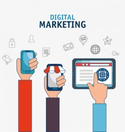 Digital marketing flat business template vector 07