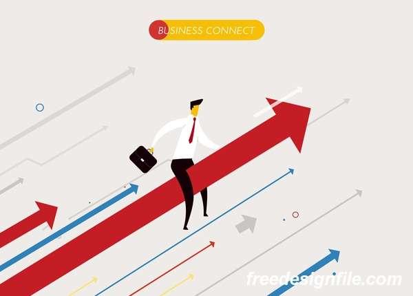 Businessman concept business template vector 08