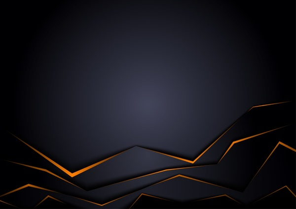 Origami black background vectors