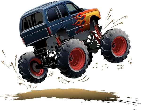 SUV monster cars cartoon vector material 0
