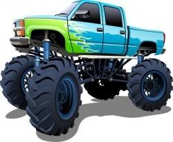 SUV monster cars cartoon vector material 08