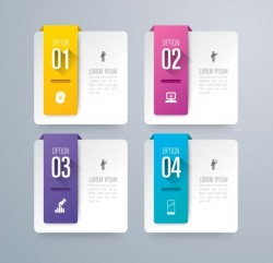 Vector banner with option infographic template 09