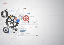 Creative technology background with gear vectors 08