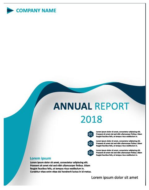 2018 Annual poster template vector 03