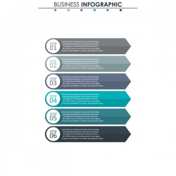 Gray with blue infographic template vectors 08