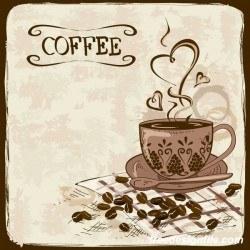 coffee poster retro hand drawn vector 02