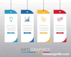 Creative infographic labels vector material 04